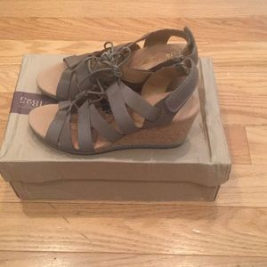 Clark's Women's Helio Mindin Wedge Sandals New!